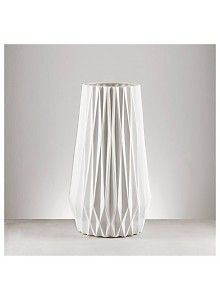 Créton Maison LEONA Vase Weiß XXL (1)