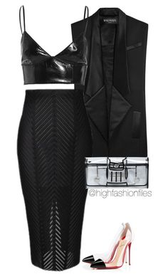 """XXX"" by highfashionfiles ❤ liked on Polyvore"