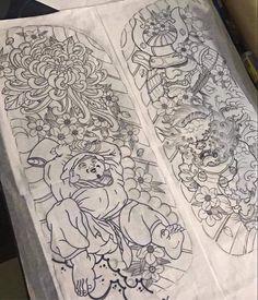 Tattoo Daruma, C Tattoo, Tatoo Art, Tattoo Japanese Style, Japanese Tattoo Designs, Samurai Mask Tattoo, Japan Tattoo Design, Asian Tattoos, Irezumi Tattoos