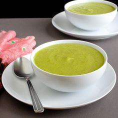 Asparagus leek soup, from Snixy Kitchen.