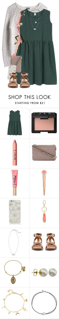 """""""Watching high strung """" by erinlmarkel ❤ liked on Polyvore featuring MTWTFSS Weekday, NARS Cosmetics, tarte, MICHAEL Michael Kors, Kate Spade, Tory Burch, Kendra Scott, Zara, Alex and Ani and Majorica"""