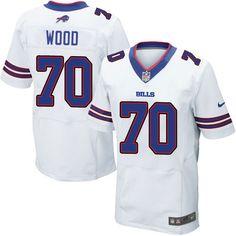 Nike Elite Eric Wood White Men s Jersey - Buffalo Bills  70 NFL Road Lesean  Mccoy fdd138b25