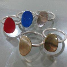 silver rings by Flora Lampadinou...