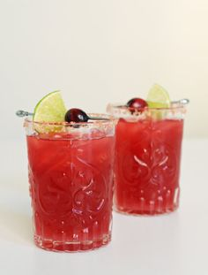Cranberry Margarita: Thanksgiving ought to be a celebration, not a somber, solemn meal — so why not get the party started with a margarita to match your cranberry jelly? This one is designed to be shaken in large batches.
