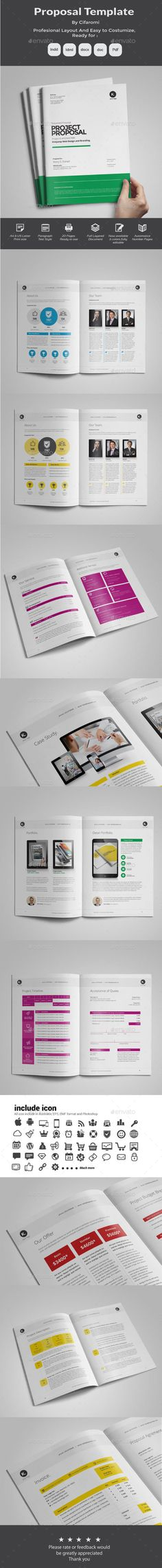 100 Pages Bundle Full Proposal Packages A4