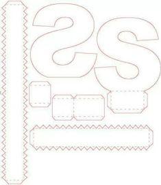 Letras 3d (molde)corte Manual Nos Formatos Png, Pdf E