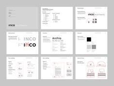 Gliwice based INCO Architects is an architectural firm which I had the pleasure to work with earlier this year.I was commissioned to design a new visual identity and website. INCO Architects is an architectural practice founded in the late The com… Architect Logo, Architect Design, Collateral Design, Branding Design, Brand Guidelines Design, Graphic Design Brochure, Brand Manual, Powerpoint Design Templates, Presentation Layout