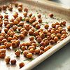 Roasted Garbanzo Beans  A healthful alternative to chips, these crunchy, slightly spicy beans make a perfect party snack. Double the recipe to feed a larger crowd.