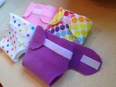 Life With the Ladniers: DIY Felt Doll Diapers
