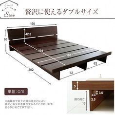 Camas How to use picture frames in interior Design? Wood Bed Design, Bed Frame Design, Diy Bed Frame, Bedroom Bed Design, Bed Frames, Pallet Furniture, Bedroom Furniture, Furniture Nyc, Cheap Furniture