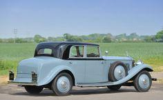 1934 Rolls-Royce Phantom II HP Continental Saloon by Barker Rolls Royce Phantom, Old Cars, Antique Cars, Automobile, Classic, Vehicles, Colour Board, British, Blue
