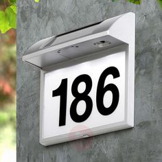 Lampe Led, Led Lamp, Solar House Numbers, Solar Wall Lights, Luz Led, High Contrast, Flip Clock, White Light, Solar Panels