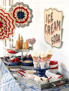 Ice Cream Bar/truck at candy corner