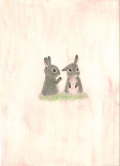 ふたごのこうさぎ rabbit twins