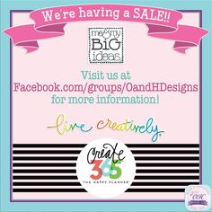 Join us at Facebook.com/groups/oandhdesigns for sale details!   #oandhdesigns #MAMBI #meandmybigideas #thehappyplanner #happyplanner #create365 #mambisticks #dashboard #embellishments #planner #planneraddict #plannerclips #plannercommunity #plannergeek #plannergirl #plannergoodies #plannerlife #plannerlove #plannerstickers #plannersgottaplan #rubberstamp #scrapbooking #stamps #stationery #stationeryaddict #stationerylove #stickers