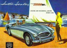 1960 Austin Healey 3000 advertisement sports convertible  #british   #classiccars   #sportscar   #healey   #austin   #vintage   #antique   #convertible   #cabriolet   #cars   #automobiles   #dreamcar
