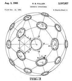 Geodesic Dome Patent 3197927 Buckminster Fuller