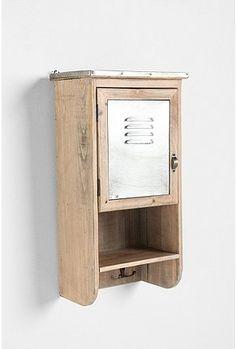 vintage wooden locker shelf