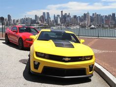 Chris Harris takes Camaro ZL1 and Mustang GT500 to NYC