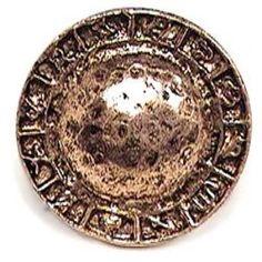 Emenee - Button - Center Dome Design on Sides Knob in Antique Matte Silver