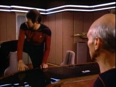 A Thing You Probably Didn't Notice: Riker Sits Down Like A Crazy Person #startrek