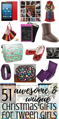 51 Awesome & unique Christmas gift ideas for tween girls - These fun ideas are sure to please the tweens in your life! Whether they're or 12 years old, there is something on this list for them for the holidays or even for birthdays! Christmas Gifts For 10 Year Olds, Unique Christmas Gifts, Christmas Stuff, Christmas Gift Ideas For Teens, Holiday Ideas, Christmas Holidays, Tween Girl Gifts, Gifts For Teens, Unique Gifts For Girls