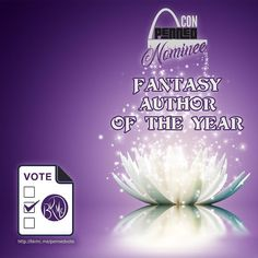 """I've been nominated for the PennedCon 2017 """"Fantasy Author of the Year"""" award! Please cast your vote at bkmc.me/pennedvote"""