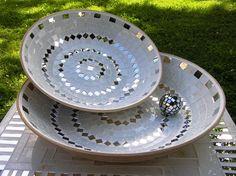 mirrored mosiac platter