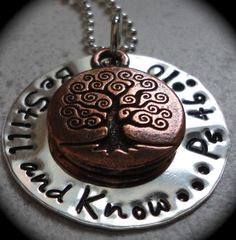 Tree+of+life++Be+Still+and+Know++handstamped+by+Crazy4Handstamping,+$30.00