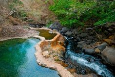 Rincon de la vieja - Costa Rica - hot spring pools next to rio negro - visited here in March Adventure Hotel, Forest Habitat, Costa Rica Travel, The Beautiful Country, Top Destinations, Day Tours, Hot Springs, Ranch, National Parks