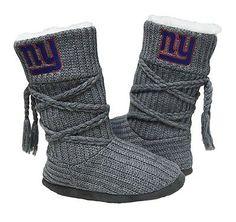 New York Giants Grey Women's Knit Boots