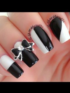 Love the black and white combo...and the bow sets it off !