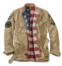 Steve McQueen Military Motorcycle Jacket - Barbour%26%23174%3b Steve McQueen Casual Baker Jacket -- Orvis on Orvis.com