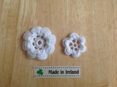 Irish Lace Roses  handmade in Ireland by AnSiopaBeag on Etsy, €9.50. Ireland