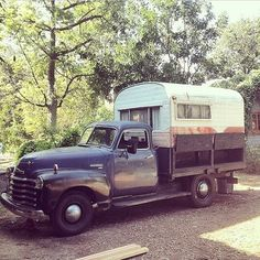 not quite glamping, but pretty sweet truck + camper