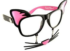 Channel Your Inner Kitty With Cat Mask Sun-Staches Glasses  ... see more at PetsLady.com ... The FUN site for Animal Lovers
