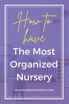 Here's the best tips and ideas that will help you learn how to organize a nursery. From closets to drawers to diaper changing, this post will walk you through it all! Baby On The Way, Mom And Baby, Label Machine, Nursing Supplies, Diaper Pail, Nursery Organization, Baby Halloween Costumes, Vinyl Cutting, Staying Organized