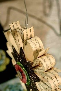Book pages ornament....