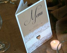 Rustic themed menu