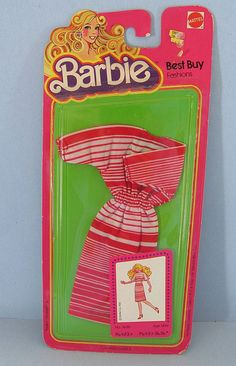 1981 Barbie 'Best Buy Fashions' Dress - Mint In Package