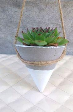 Rosa jardinera hormigón / colgar macetas Planter /Modern /