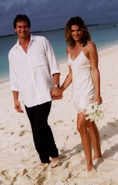 For her second marriage, to Rande Gerber, supermodel Cindy Crawford decided to keep it simple. Barefoot on the beach simple in this John Galliano designed short lacy slip dress. In what was probably an attempt to make her wedding day a simple beautiful memory Cindy Crawford & John Galliano ignited an underwear as outerwear craze that still echoes in today's fashion.