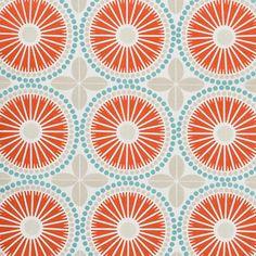 coral grey trellis upholstery fabric - light blue white grey