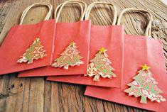 christmas gift bags small christmas bags holiday by oscarandollie