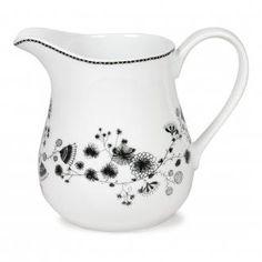 Кувшин для молока Miss Blackbirdy, 1.3л, черно-белый