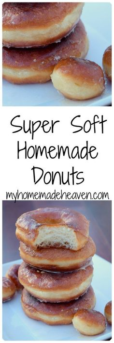 Super Soft Homemade Donuts I'm excited to share this recipe with you today. We've tried many many different donut recipes, some that are suppose to be quick, no-rise donuts, and. 13 Desserts, Brownie Desserts, Delicious Desserts, Yummy Food, Desserts With Oreos, Desserts Without Eggs, Birthday Desserts, Cake Birthday, Health Desserts