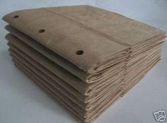 6X6 SEWN paper bag scrapbook albums 8 BROWN books 3 by shmizz, $8.00