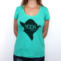 Yoda is God - Camiseta Clássica Verde