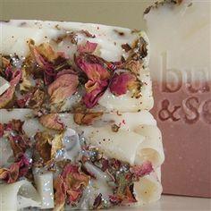 Handmade rose soap $5.85 with organic rose petals; natural skincare Rose Soap, Organic Roses, Healing Power, Splish Splash, Natural Products, Bath Time, Rose Petals, Herbal Remedies, Soap Making