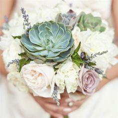 Rose and Succulent Bridal Bouquet